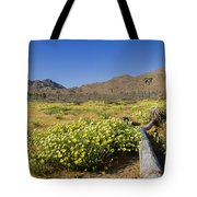 Flowers At The Headstone Tote Bag