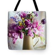 Flowers At The Post Office Tote Bag