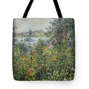 Flowers At Vetheuil Tote Bag