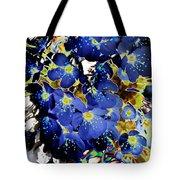 Flowers Blue Tote Bag