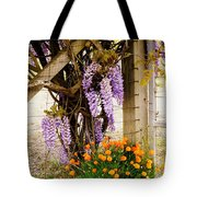Flowers By The Gate Tote Bag