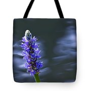 Flowers By The Water Tote Bag