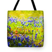 Flowers Field Background Tote Bag