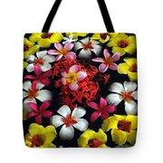 Flowers Floating Tote Bag