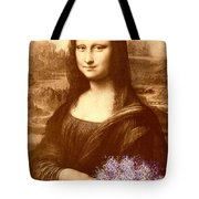 Flowers For Mona Lisa Tote Bag