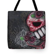 Flowers For The Dead II Tote Bag by Abril Andrade Griffith