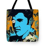 Flowers For The King Of Rock And Roll Tote Bag
