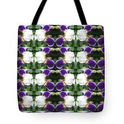 Flowers From Cherryhill Nj America White  Purple Combination Graphically Enhanced Innovative Pattern Tote Bag