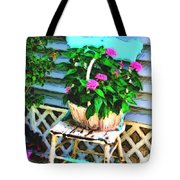Flowers In A Basket Tote Bag