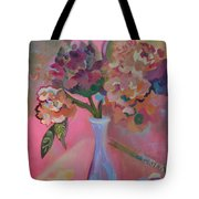 Flowers In A Lavender Vase Tote Bag