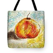 Flowers In A Mosaic Apple Tote Bag