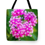 Flowers In A Purple Heart Tote Bag