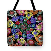 Flowers In A Spiral Tote Bag