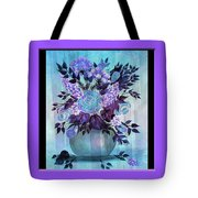Flowers In A Vase With Lilac Border Tote Bag