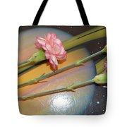 Flowers In Space Tote Bag