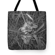 Flowers In Spring Black And White Tote Bag