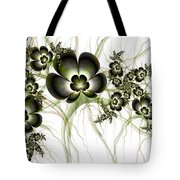 Flowers In The Antique Look Tote Bag