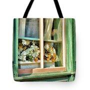 Flowers In The Window Tote Bag