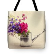 Flowers In Watering Can Tote Bag