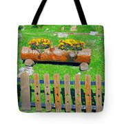 Flowers In Wooden Pot Tote Bag