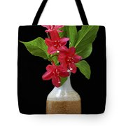 Flowers Isolated On Black Background Tote Bag