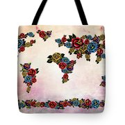 Flowers Map  Tote Bag