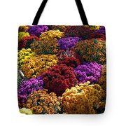 Flowers Near The Grand Palais Off Of Champ Elysees In Paris France   Tote Bag