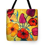 Flowers Of Love Tote Bag by Ana Maria Edulescu
