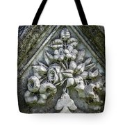 Flowers On A Grave Stone Tote Bag