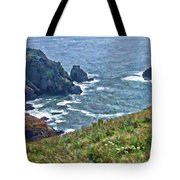 Flowers On Isle Of Guernsey Cliffs Tote Bag