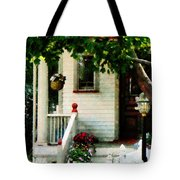 Flowers On Steps Tote Bag