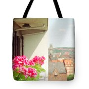 Flowers On The Balcony Tote Bag
