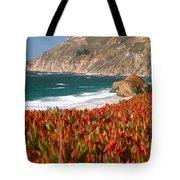 Flowers On The Coast, Big Sur Tote Bag