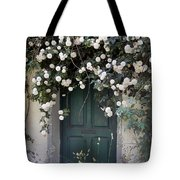 Flowers On The Door Tote Bag