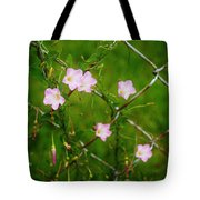 Flowers... On The Fence Tote Bag