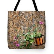 Flowers On Wall - Taromina Tote Bag