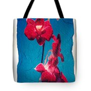 Flowers On Watercolor Paper Tote Bag