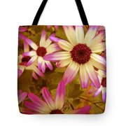 Flowers Pink And White Tote Bag