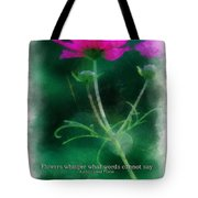 Flowers Whisper 01 Tote Bag
