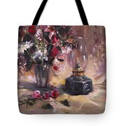 Flowers With Lantern Tote Bag
