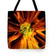 Flowery Flames Tote Bag