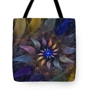 Flowery Fractal Composition With Stardust Tote Bag