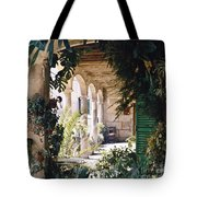 Flowery Majorquin  Patio In Valdemosa Tote Bag