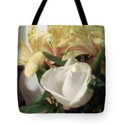 Flowery Notes Tote Bag