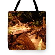 Flowing Betwixed Old Wood Near Mt St Helens Tote Bag