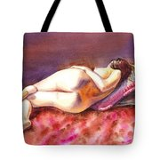 Flowing Lines Reclining Nude Tote Bag