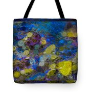 Flowing River Water And Rocks Colorful Abstract Painting Tote Bag