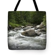 Flowing Stream In Vermont Tote Bag