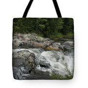 Flowing Stream With Waterfall In Vermont Tote Bag