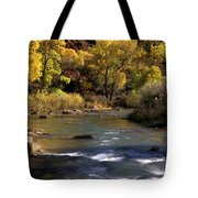 Flowing Through Zion National Park Tote Bag